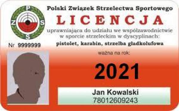 Przedłużenie licencji zawodniczej na rok 2021